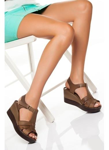 Derithy Derithy Dgc0150 Dolgu Topuklu Ayakkabı Vizon